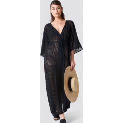 NA-KD Boho Sukienka-płaszcz z szyfonu - Black. Czarne sukienki damskie NA-KD Boho, z szyfonu, boho. Za 161.95 zł.