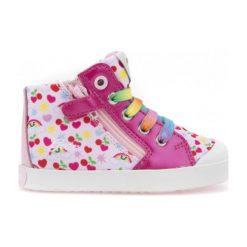 Geox Trampki Dziewczęce Kilwi 25 Wielokolorowe. Różowe trampki i tenisówki dziewczęce Geox, w kolorowe wzory, z materiału. W wyprzedaży za 149.00 zł.
