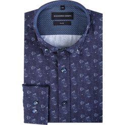 Koszula SIMONE KDWS000180. Szare koszule męskie Giacomo Conti, z bawełny, button down, z długim rękawem. Za 199.00 zł.