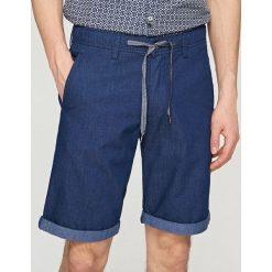 Szorty z elastyczną talią - Granatowy. Niebieskie szorty męskie Reserved. W wyprzedaży za 59.99 zł.