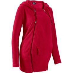 Bluza z polaru ciążowa, z wstawką niemowlęcą bonprix ciemnoczerwony. Bluzy dla dziewczynek marki Pulp. Za 129.99 zł.