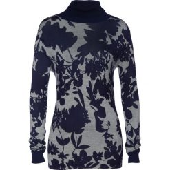 Sweter bonprix ciemnoniebiesko-szary melanż. Swetry damskie marki bonprix. Za 59.99 zł.