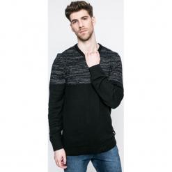 Blend - Sweter. Czarne swetry przez głowę męskie Blend, z bawełny, z okrągłym kołnierzem. W wyprzedaży za 69.90 zł.