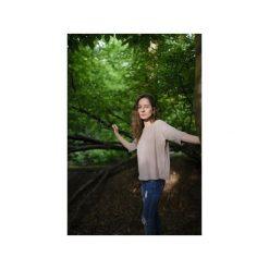 T-shirt oversized/ z organicznej bawełny. Brązowe t-shirty damskie Siss, z bawełny. Za 145.00 zł.