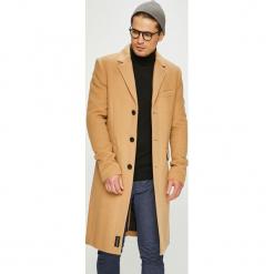 Calvin Klein Jeans - Płaszcz. Brązowe płaszcze męskie Calvin Klein Jeans, z jeansu, klasyczne. Za 1,399.00 zł.