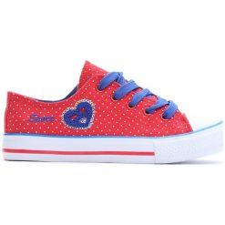 Czerwone Trampki I Love Sport. Czerwone buty sportowe dziewczęce Born2be, z materiału. Za 29.99 zł.
