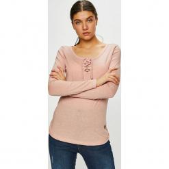 Sublevel - Bluzka. Różowe bluzki damskie Sublevel, z bawełny, casualowe, z okrągłym kołnierzem. Za 69.90 zł.