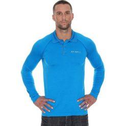 Brubeck Koszulka męska polo Prestige z długim rękawem niebieska r. L (LS10620). Koszulki sportowe męskie Brubeck, z długim rękawem. Za 215.89 zł.