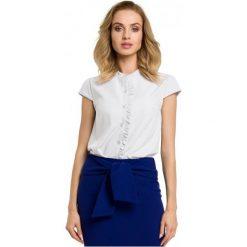 Made Of Emotion Bluzka Damska S Biały. Białe bluzki damskie Made Of Emotion, z materiału, eleganckie, z krótkim rękawem. W wyprzedaży za 159.00 zł.