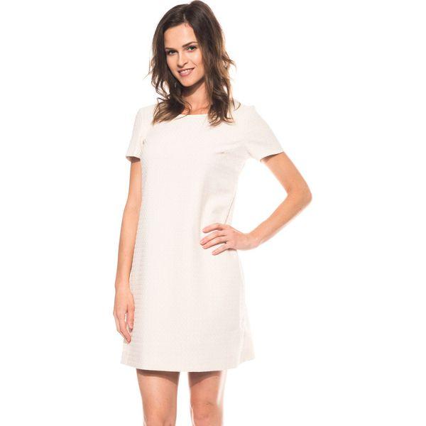 f3ee5eff01 Żakardowa sukienka z krótkim rękawem BIALCON - Sukienki damskie ...