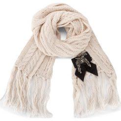 Szal TWINSET - Sciarpa AA7P44 White Ca 00889. Brązowe szaliki i chusty damskie Twinset, z materiału. W wyprzedaży za 289.00 zł.