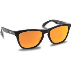 Okulary przeciwsłoneczne OAKLEY - Frogskins OO9013-24-325 Polished Black/Fire Iridium. Brązowe okulary przeciwsłoneczne męskie Oakley, z tworzywa sztucznego. W wyprzedaży za 449.00 zł.