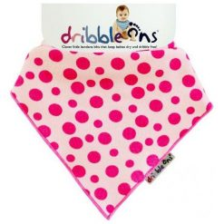 Xkko Śliniaczek Dribble Ons Pink Spot. Różowe śliniaki dla dzieci Xkko, z bawełny. Za 32.00 zł.