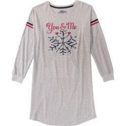 Koszula nocna bonprix jasnoszary melanż z nadrukiem. Koszule nocne damskie marki MAKE ME BIO. Za 44.99 zł.
