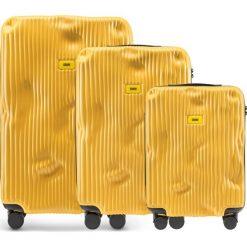 Walizki Stripe w zestawie 3 el. Mustard Yellow. Walizki męskie Crash Baggage, z materiału. Za 2,796.00 zł.