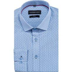 Koszula SIMONE slim KDWS000402. Niebieskie koszule męskie Giacomo Conti, z bawełny, z klasycznym kołnierzykiem. Za 149.00 zł.