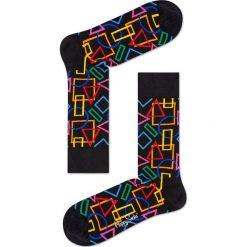 Happy Socks - Skarpetki Geometric. Czarne skarpety damskie Happy Socks, z bawełny. Za 39.90 zł.