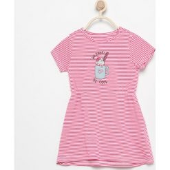 Bawełniana sukienka w prążek - Biały. Sukienki niemowlęce Reserved, w prążki, z bawełny. W wyprzedaży za 14.99 zł.