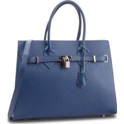 Torebka CREOLE - K10371 Granatowy. Niebieskie torebki do ręki damskie Creole, ze skóry. Za 279.00 zł.