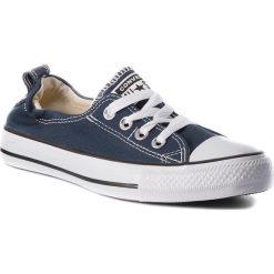 Trampki CONVERSE - Ct Shoreline Slip 537080C Athletic Navy. Niebieskie trampki męskie Converse, z gumy. W wyprzedaży za 149.00 zł.