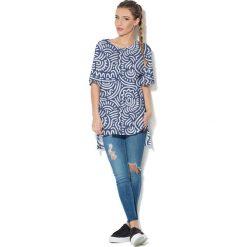 Colour Pleasure Koszulka CP-033  186 niebiesko-biała r. uniwersalny. Bluzki damskie marki Colour Pleasure. Za 76.57 zł.