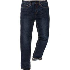 """Dżinsy ze stretchem Slim Fit Straight bonprix ciemnoniebieski """"stone used"""". Niebieskie jeansy męskie bonprix. Za 139.99 zł."""