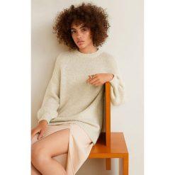 Mango - Sweter Saudade. Szare swetry damskie Mango, z dzianiny, z okrągłym kołnierzem. Za 139.90 zł.