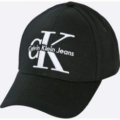 Calvin Klein Jeans - Czapka. Czarne czapki i kapelusze damskie Calvin Klein Jeans, z jeansu. W wyprzedaży za 139.90 zł.