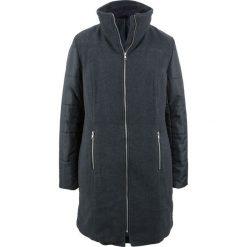 Płaszcz z różnych materiałów bonprix antracytowy melanż + czarny. Szare płaszcze damskie bonprix, melanż, z materiału. Za 239.99 zł.