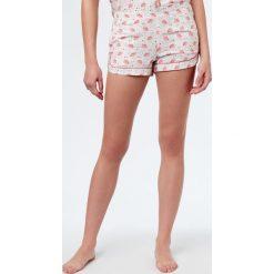 Etam - Szorty piżamowe. Szare piżamy damskie Etam, z dzianiny. W wyprzedaży za 39.90 zł.