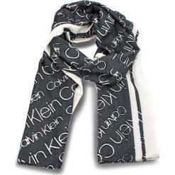 Szal CALVIN KLEIN - Burn Out Calvin Klei K60K604706 101. Czarne szaliki i chusty damskie Calvin Klein, z materiału. Za 229.00 zł.