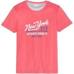 T-shirt w optyce 2 w 1, z nadrukiem, Regular Fit bonprix koralowy. T-shirty męskie marki Giacomo Conti. Za 44.99 zł.