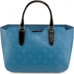 Torebka damska 85-4E-005-Z. Niebieskie torebki do ręki damskie Wittchen, w paski. Za 515.00 zł.