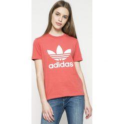 Adidas Originals - Top. Różowe topy damskie adidas Originals, z krótkim rękawem. W wyprzedaży za 99.90 zł.