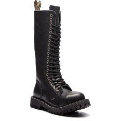 Glany STEEL - 139/O/B Black. Czarne kozaki damskie Steel, ze skóry. Za 329.00 zł.