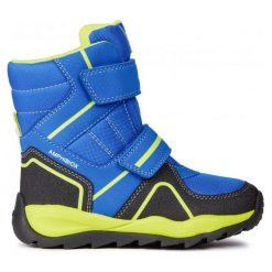 Geox Buty Zimowe Za Kostkę Chłopięce Orizont 30 Niebieski. Niebieskie buty zimowe chłopięce Geox, z gumy. Za 389.00 zł.
