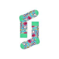 Skarpetki Happy Socks X Steve Aoki AOK01-6000. Szare skarpety męskie Happy Socks, z bawełny. Za 30.01 zł.