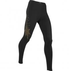 Legginsy, długie LEVEL1 bonprix czarny. Czarne legginsy damskie bonprix, w paski. Za 74.99 zł.