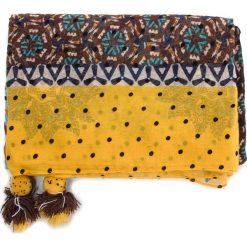 Chusta DESIGUAL - Foul Afro 18WAWW04 6000. Brązowe szaliki i chusty damskie Desigual, z materiału. Za 149.90 zł.