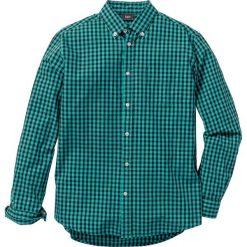 Koszula z długim rękawem Regular Fit bonprix zielono-ciemnoniebieski w kratę. Zielone koszule męskie bonprix, z długim rękawem. Za 59.99 zł.