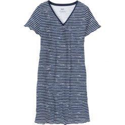 Koszula nocna bonprix ciemnoniebiesko-biały w paski. Koszule nocne damskie marki MAKE ME BIO. Za 44.99 zł.