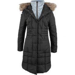 Płaszcz pikowany w optyce 2 w 1 bonprix czarny. Płaszcze damskie marki FOUGANZA. Za 269.99 zł.