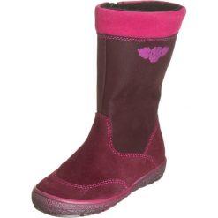 Skórzane kozaki w kolorze bordowym. Buty zimowe dziewczęce Zimowe obuwie dla dzieci. W wyprzedaży za 149.95 zł.