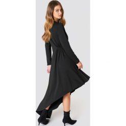 NA-KD Party Jerseyowa sukienka z długim rękawem - Black. Sukienki damskie NA-KD Trend, z jeansu, z długim rękawem. Za 202.95 zł.