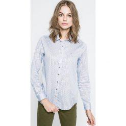 U.S. Polo - Koszula. Szare koszule damskie U.S. Polo, z bawełny, casualowe, polo, z długim rękawem. W wyprzedaży za 199.90 zł.