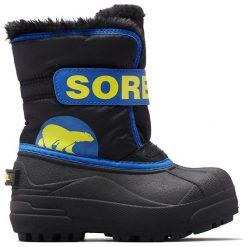 Sorel Chłopięce Śniegowce Snow Commander, 22, Czarne/Niebieskie. Białe buty zimowe chłopięce Sorel. Za 269.00 zł.