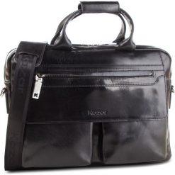 Torba KAZAR - 29946-01-N0 Czarny. Czarne torby na ramię męskie Kazar, w paski, ze skóry. Za 749.00 zł.
