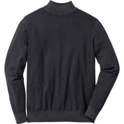 Sweter ze stójką Regular Fit bonprix czarny. Swetry przez głowę męskie marki Giacomo Conti. Za 59.99 zł.