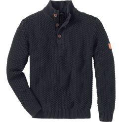 Sweter Slim Fit bonprix antracytowy melanż. Swetry przez głowę męskie marki Giacomo Conti. Za 89.99 zł.