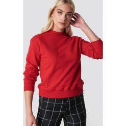 NA-KD Basic Bluza basic - Red. Czerwone bluzy damskie NA-KD Basic, prążkowane. Za 100.95 zł.